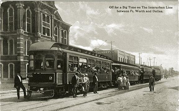 Interurban train, Fort Worth train, Stop Six name